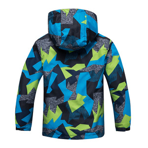 Image 2 - 2020 Childrens Warm Jacket Coat Winter Kids Boys Rain Outerwear Sports Hoodie Clothes Double deck Waterproof Boy Girl Jackets