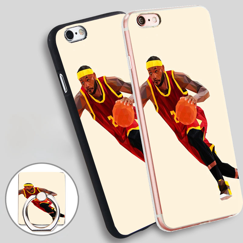IOP LeBron Back Phone Ring Holder Soft TPU Silicone Case Cover for iPhone 5 SE 5S 6 6S 7 Plus