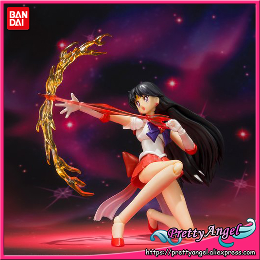 PrettyAngel - Genuine Bandai Tamashii Nations S.H.Figuarts Exclusive Sailor Moon SuperS Super Sailor Mars Action Figure все цены