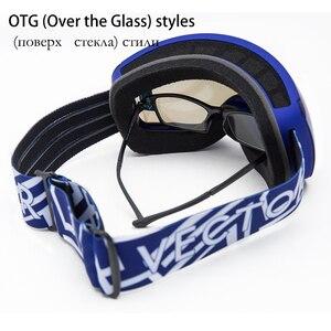 Image 2 - OTG Characterist Print Strap Ski Goggles Snow Glasses Men Skibrille Anti fog Snowboard Skiing Women Sunglasses Outdoor Sport