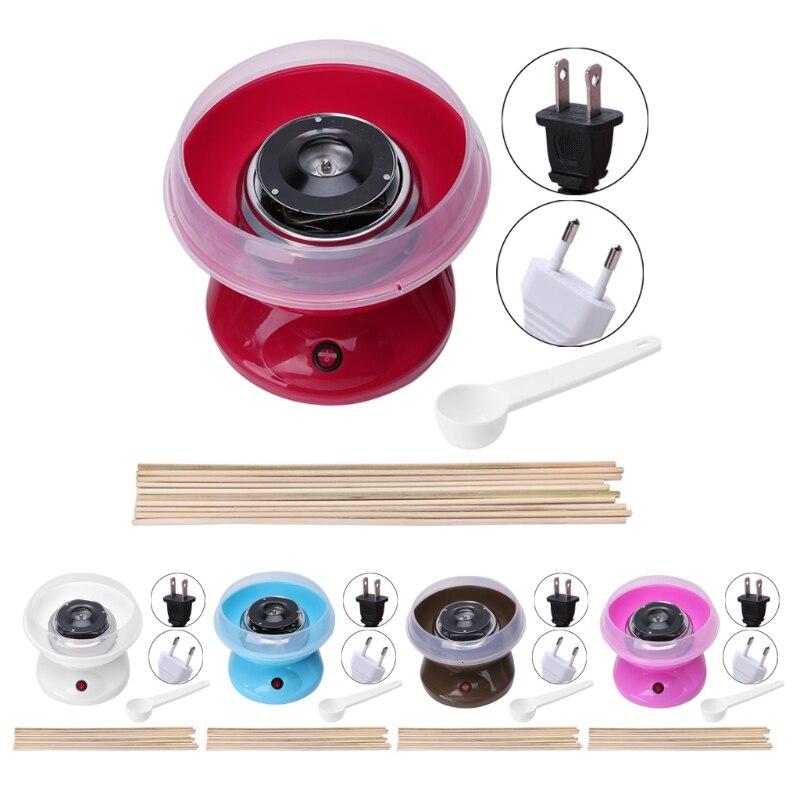 Electirc Candyfloss машина для изготовления домашних хлопковых сахарных конфет производитель вечерние DIY случайный цвет