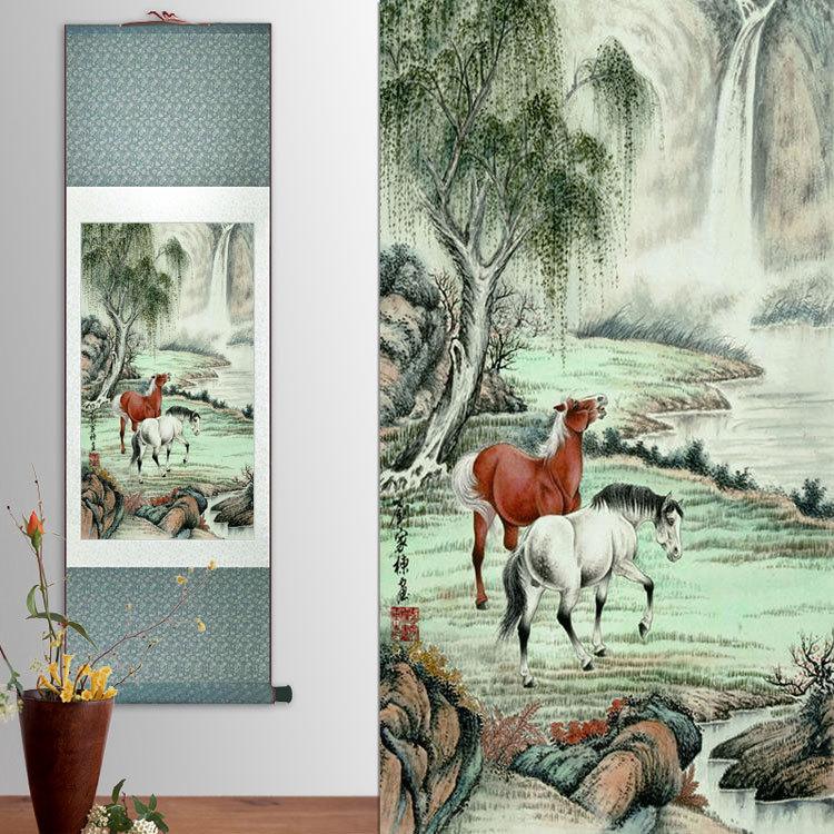 Online buy wholesale framed horse prints from china framed for Cheap framed art prints