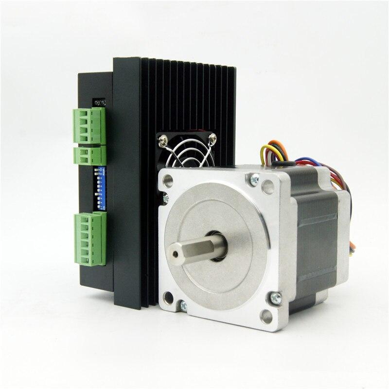 CNC NEMA34 stepper motor 4.5N.m(643oz-in) shaft diameter 12.7/14mm 4.2A and Driver JB860M AC18-80V/DC24-110V 2.0-6.0A 256MicroCNC NEMA34 stepper motor 4.5N.m(643oz-in) shaft diameter 12.7/14mm 4.2A and Driver JB860M AC18-80V/DC24-110V 2.0-6.0A 256Micro