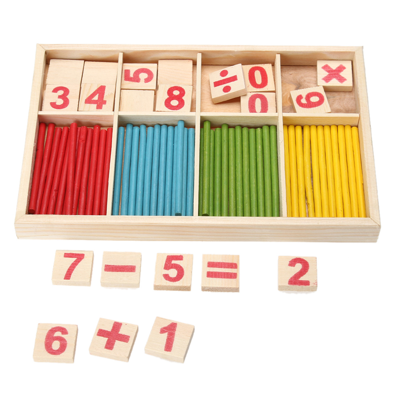 Kid Educational Number Math Calculate Game Toys Children Wooden Early Math Learning Counting Toy Mathematics Puzzle Counting Toy montessori wooden math toys for children boys digital learning education early educational game brinquedos oyuncak