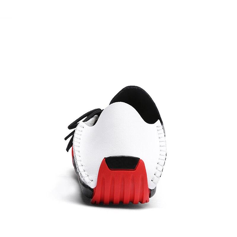 marron White Mocassins Slip Black Conduite En Automne Taille Cuir Grande 38 47 Respirant Style Mode gris De Britannique Printemps Appartements Bateau Mâle Chaussures Hommes on B4qqFg