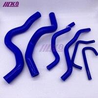 Mangueira do radiador de silicone kit para mitsubishi v3 4a91 (6 peças) vermelho/azul/preto
