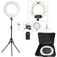 Yidoblo White FE 480II 5600K Dimmable Camera Ring Light 480 LED Video Light Lamp LCD RC