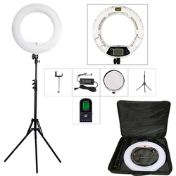 Yidoblo الأبيض FE-480II 5500 K عكس الضوء كاميرا الصورة/استوديو/الهاتف/الفيديو 18 96 W 480 LED مصباح مصمم على شكل حلقة LED مصباح + 200 سنتيمتر ترايبود + طقم حقيبة