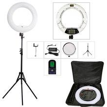 "Yidoblo FE 480II 5500 k câmera regulável foto/estúdio/telefone/vídeo 18 ""96 w 480 led anel luz led lâmpada + 200cm tripé saco kit"