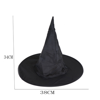 Hot sale 1Pcs Adult Womens Black Witch Hat For Halloween Costume Accessory Peaked Cap