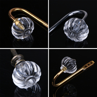 2Pcs Metal Crystal Hooks for Curtain Towel Hanger Wall Hook Curtain Buckle Rustic Curtain Clip Artificial Organizer Holder