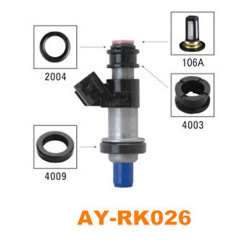 40 unids/set auto kit de reparación del inyector de combustible del filtro de co