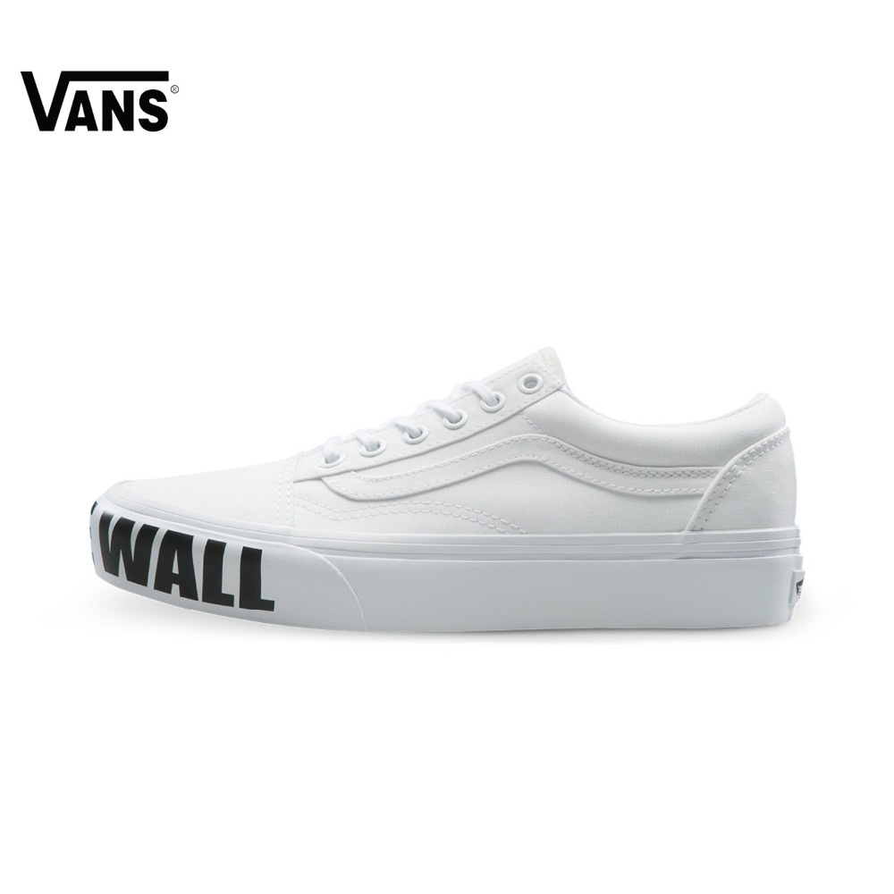 купить Original Vans New Arrival Letter Low-Top Women's Skateboarding Shoes Sport Shoes Canvas Shoes Sneakers недорого