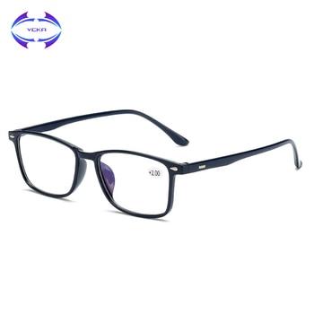 VCKA Retro TR90 Reading Glasses Men Women Blue Light Blocking Prescription Eyeglasses Diopter +1.0+1.5 2.0 2.5 3.0 3.5 4.0