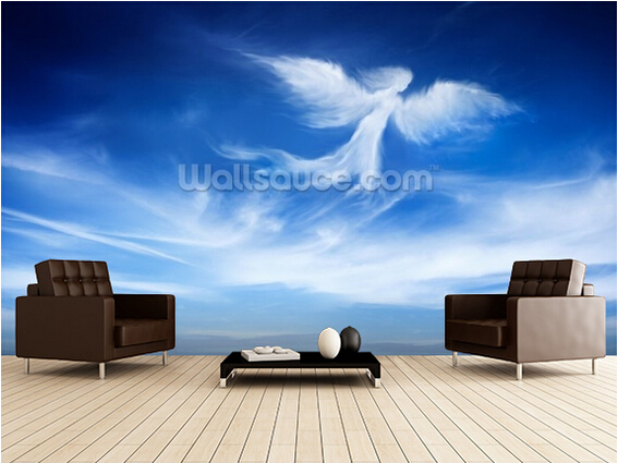 Custom continental wallpaper.angel in the sky,3D photo mural for living room bedroom kitchen backdrop wall waterproof wallpaper darvesh karim and zeenat shah a success story of the holistic development of a school