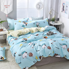 3/4pcs/set Cartoon Pictures Printing Textile Bedding Set Include Duvet Cover &Sheets&Pillowcases Cover Comfortable Home Bed Set(China)