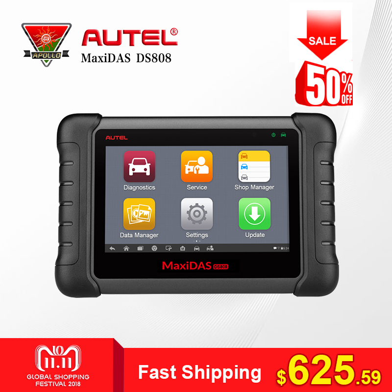 все цены на Autel MaxiDAS DS808 All System Car Diagnostic Tool Professional Auto OBD OBD2 Code Reader Scanner Update Online Similar as MS906 онлайн