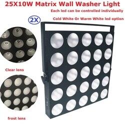 2 paczka 25X10 W ciepły biały/zimny biały Led Matrix światła wysokiej mocy 300 W profesjonalnych odbiorców światła etapie tle ściany dekoracje