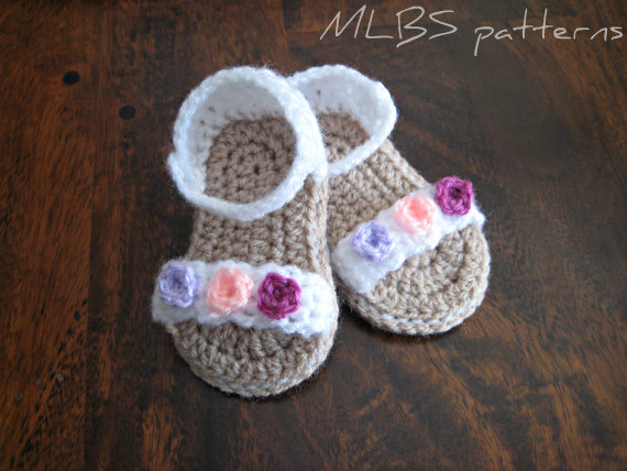 Crochet Baby Sandals Baby Girl Knitting Shoes Crochet Baby Bootee