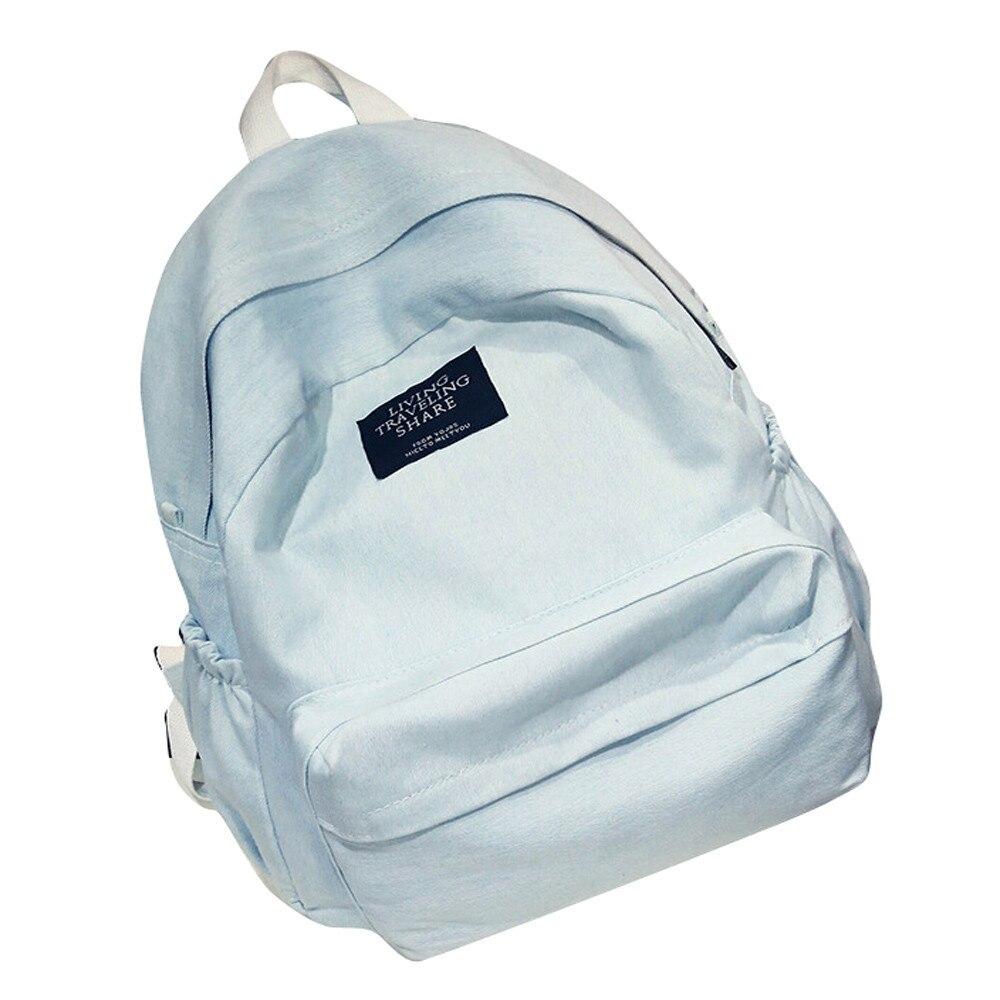 Denim School Backpack Travel Backpack Women Shoulder Rucksack Satchel Large Capacity Backpacks Waterproof Backpacks Daypack#22
