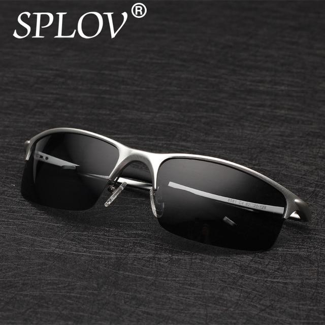 a42cc2fa2 Lente Polarizada óculos de Sol dos homens de alumínio E Magnésio Motorista  Espelho óculos de Sol