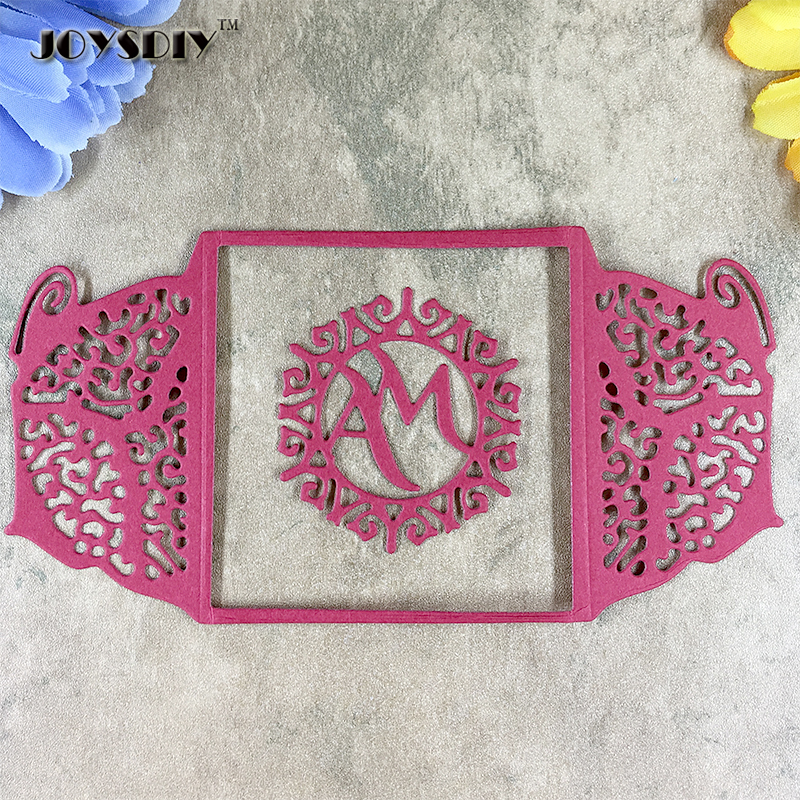 Cute Butterfly Fold Cover To MaMa Metal Die Cutting Dies For DIY Scrapbooking Photo Album Decorative Die Cutting Template 152mm