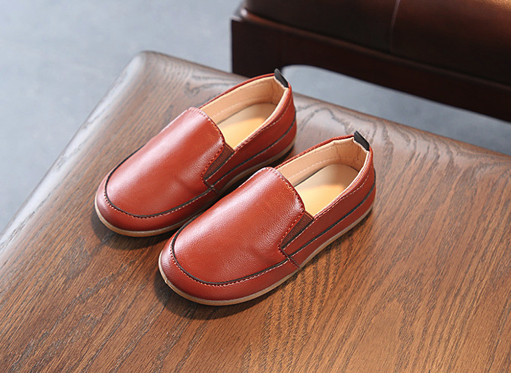 Bébé garçon chaussures cuir semelle souple sans lacet mocassins chaussures garçons mocassins semelle souple bébé chaussures x97 - 3