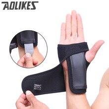 Aolikes Adjustable Hand Brace Sport WristBand Safe Steel Wrist Support Splint Arthritis Sprains Strain Hand  Bandage Wrist Wraps