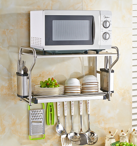 Freies verschiffen 304 edelstahl mikrowelle regal küche wand regal ...