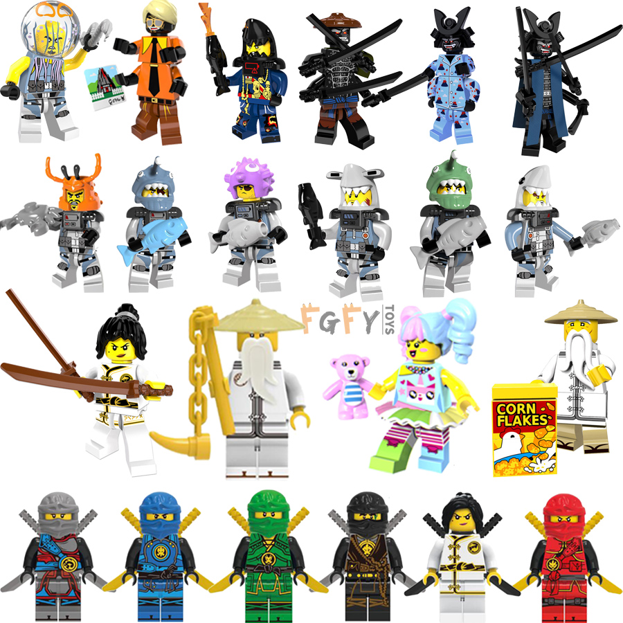 Blocks Toys & Hobbies Single Sale Ninjagoes Nya Jay Ultra Violet Hutchins Zane Kai Harumi Samurai Building Blocks Bricks Gift Toys Legoings A002 Attractive Designs;