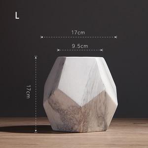 Image 5 - Vaso de cerâmica branco com marcação, decoração de casa ou escritório, em formato de geométrico, 1 peça 10/13/17cm