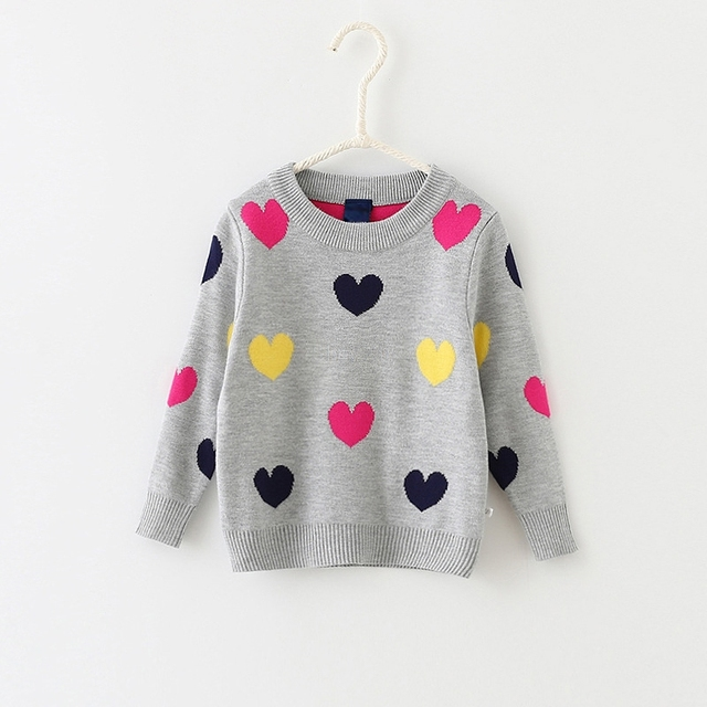 YAGATA Childrens Wear Boys Double Thick Cotton Sweater Childrens Old and Small Deer Jacquard Sweater Autumn and Winter