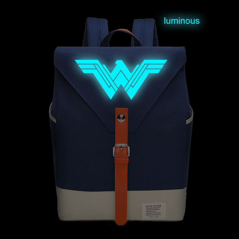 Wonder Woman backpack casual backpacks teenagers Men women's Student School Bags luminous oxford travel Laptop Bags zelda laptop backpack bags cosplay link hyrule anime casual backpack teenagers men women s student school bags travel bag