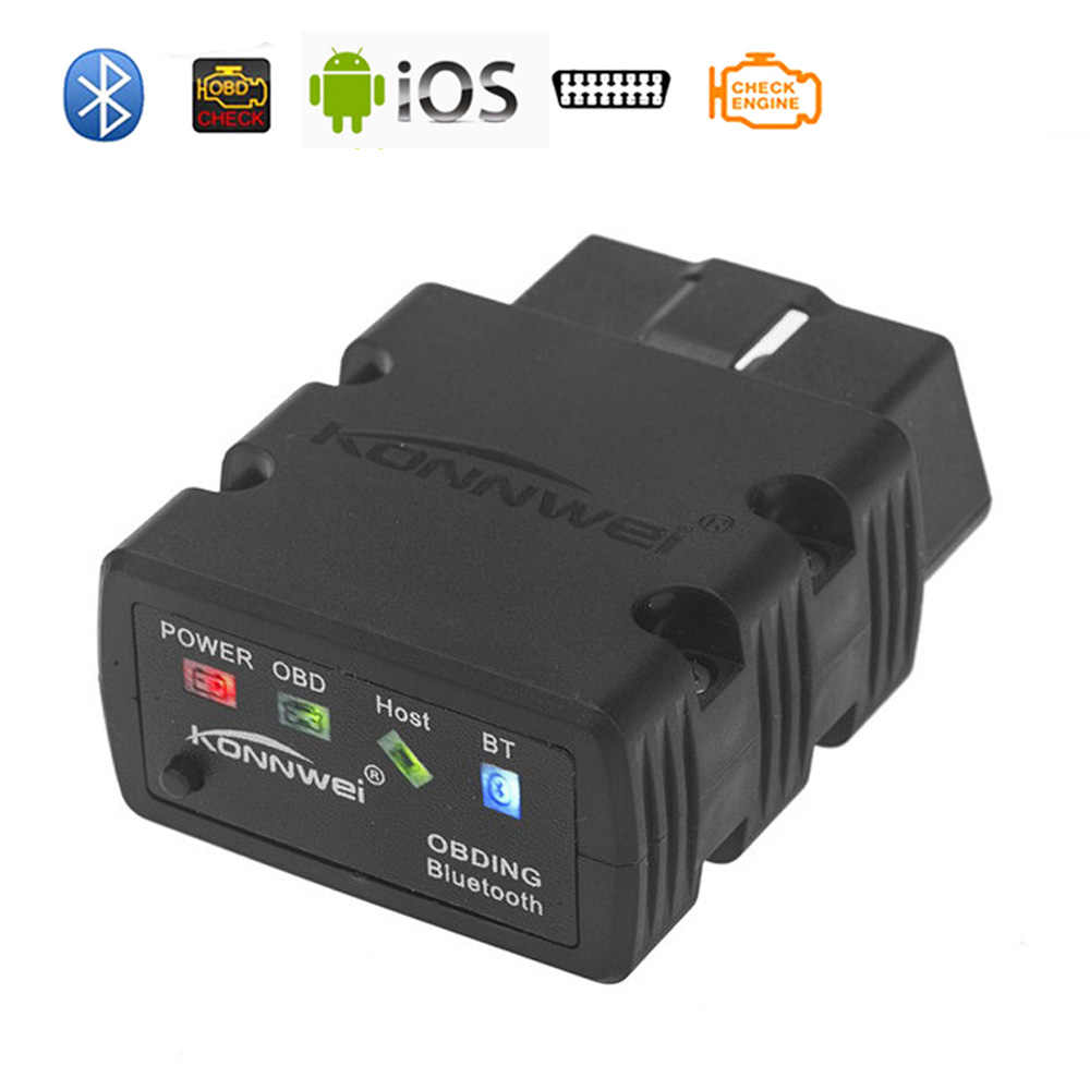 Mini Elm327 Bluetooth OBD2 V1.5 elm 327 v1.5 bluetooth Adapter Car Scanner OBD 2 Elm-327 OBDII Auto Diagnostic Tool Scanner
