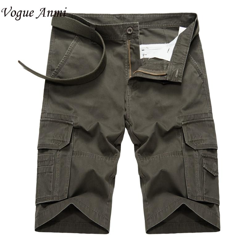 Vogue Anmi Brand Shorts Mens Bermuda Male Short Men Homme Cargo Shorts 29-38 Mens Cargo Short