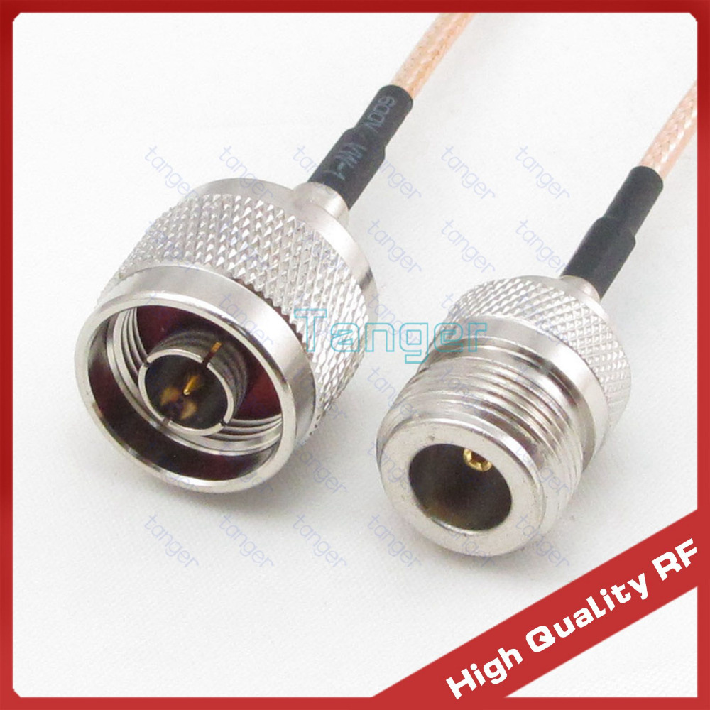 Hot 3ft Pigtail N type male to N female jack straight connector with RG316 RG-316 RF Coaxial Jumper Low Loss cable 40inch 100cm rp sma female to y type 2x ip 9 ms156 male splitter combiner cable pigtail rg316 one sma point 2 ms156 connector for lte yota
