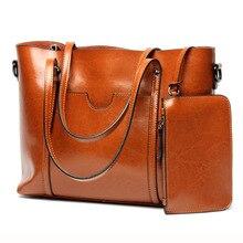 Women Casual Tote Genuine Leather Handbag Bag Fashion Vintage Large Shopping Bag Designer Crossbody Bags Big Shoulder Bag Female