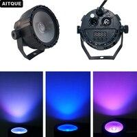 20pcs Disco Wedding 15W RGB UV COB LED Par Light Wireless Remote Control Stage DJ DMX led uplights dmx led par uv