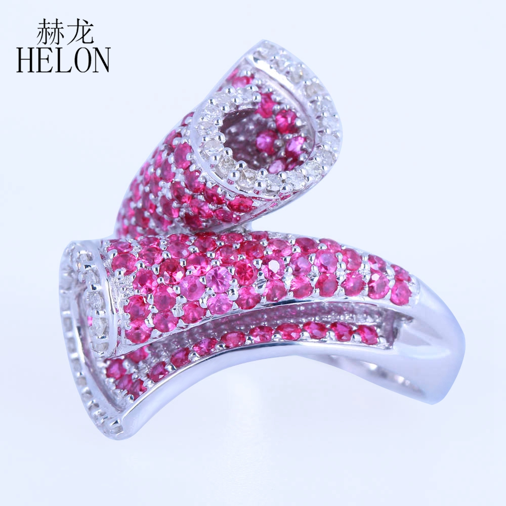 HELON Solid 10k (417) White Gold 100% Genuine Natural Diamonds ...