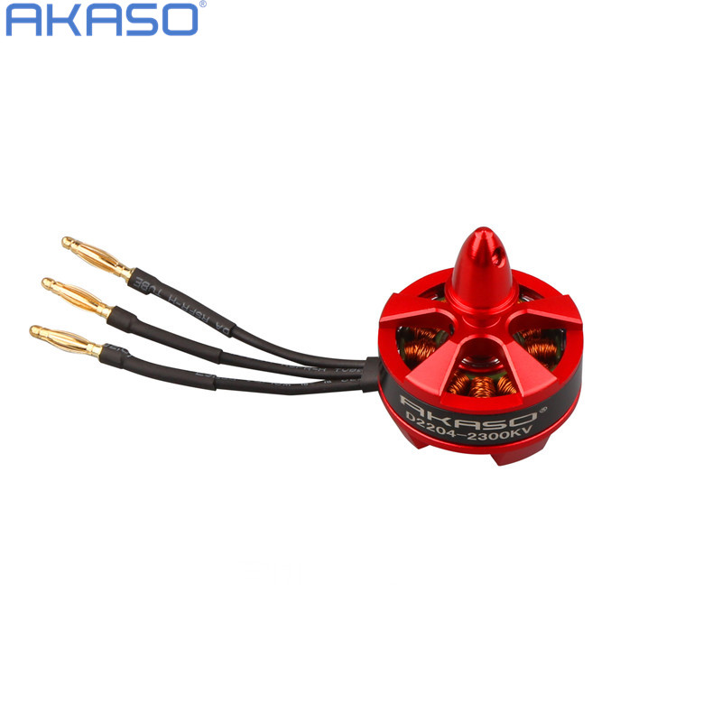 AKASO D 2204 2300KV  Brushless Motor RC for 250mm Fpv QAV250 QAV210 ZMR250 Robocat 270 Auadcopter  Motor kit parts wdiy motor2204 2300kv qav x qav210  4s