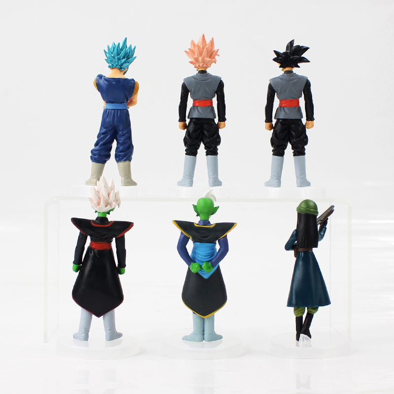Image 2 - 6pcs/lot Dragon Ball Z Figure Toy Son Goku Black Zamasu Mai Super Saiyan Rose Model Doll Anime Gift for Kids-in Action & Toy Figures from Toys & Hobbies