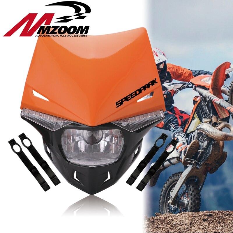 Universal H4 Motorcycle Head Light Motocross Headlight Dual Sport For KTM EXC SX SXF XC MX SMR Enduro Supermoto Dirt Bike Parts