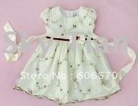Freeshipping Wholesale girls summer dress, cute flower dress, girls clothes, fashion kids wear, beautiful, 10pcs/lot