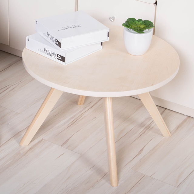 Round Wooden Coffee Table DIA60 CM Beech Wood