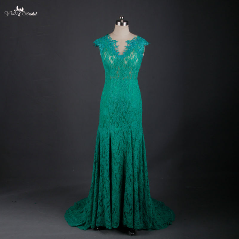 RSE621 Long Backless Emerald Green Sexy Mermaid Long Evening Dress 2016 New Arrival Formal Dresses