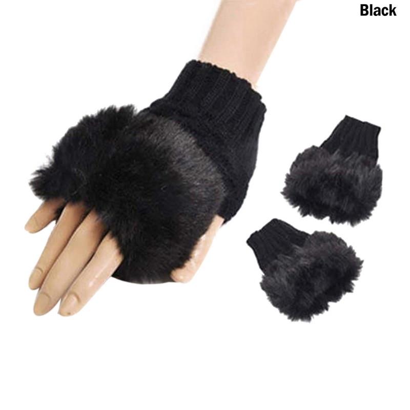Drop shipping Shujin 1PCs New Woolen Female Hearts Christmas Knitting Half Finger Sleeve Gloves Autumn and winter warm gloves