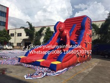 2016 new Factory direct Inflatable slide,Spider - Man Slide  KY-108