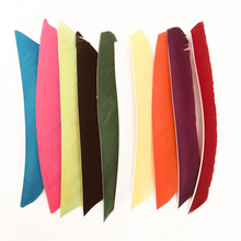 50pcs 18~25cm Fletching Arrow Feathers Multicolor Full Length Real Turkey Feather For Archery Hunting And Firing