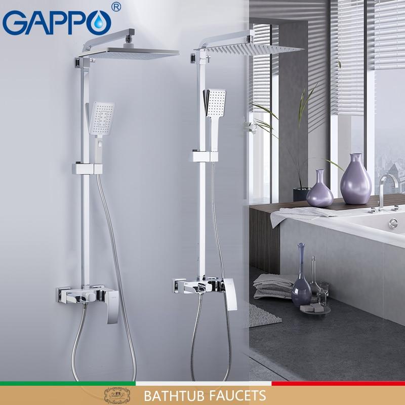 GAPPO robinets de douche en laiton salle de bain ensemble de douche mural massage pommeau de douche mitigeur de bain robinet de douche robinetsGAPPO robinets de douche en laiton salle de bain ensemble de douche mural massage pommeau de douche mitigeur de bain robinet de douche robinets