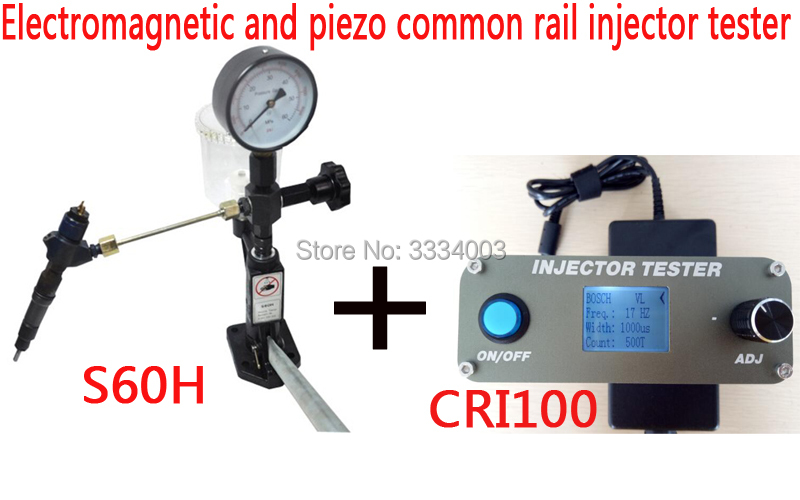 AM-CRI100 Common rail injector tester Electromagnetic and piezo +S60H diesel injector nozzle tester injector tester s60h hand pressure calibrator 60 mpa school nipple tool test bench checker nozzle tester 1pc